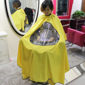 Купить пеньюар с прозрачным окошком для парикмахера