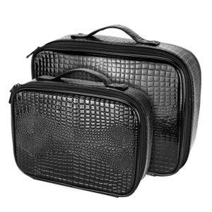 Кожаный чемодан для хранения инструментов парикмахера
